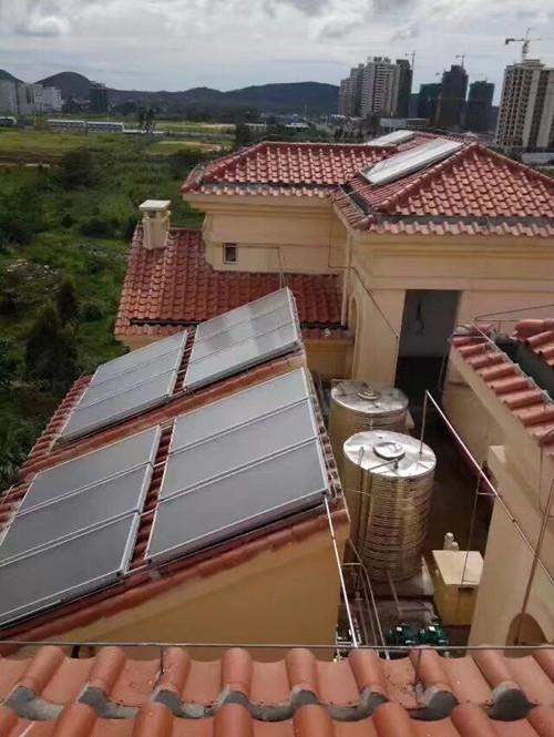广州增城区某别墅太阳能热水器